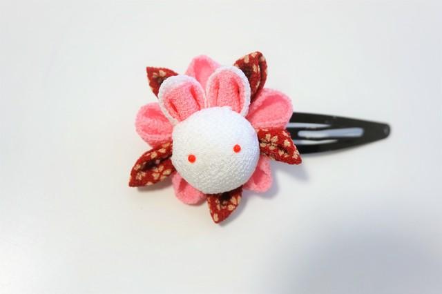 うさぎパッチン(ピンク)