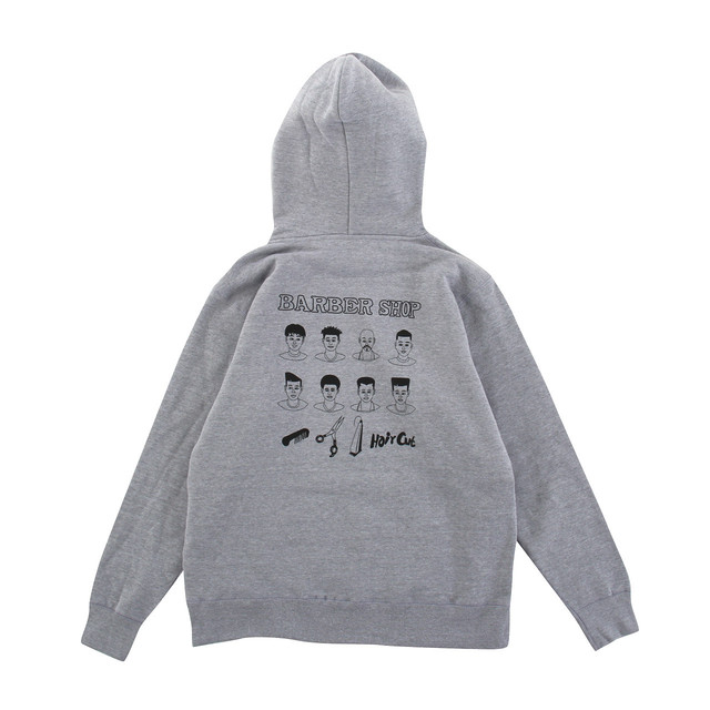 【Goods & Supply】Barber Shop Pullover Hoodie / Gray
