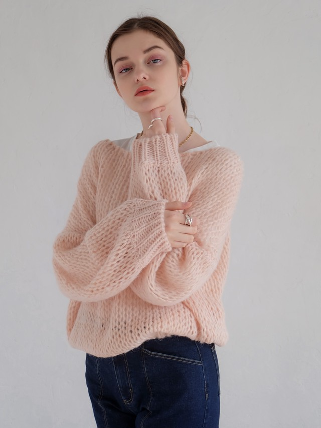 mohair low-gauge knit(pink)