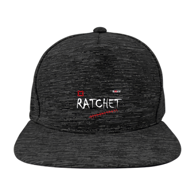 RATCHET フラットバイザー キャップ(黒)