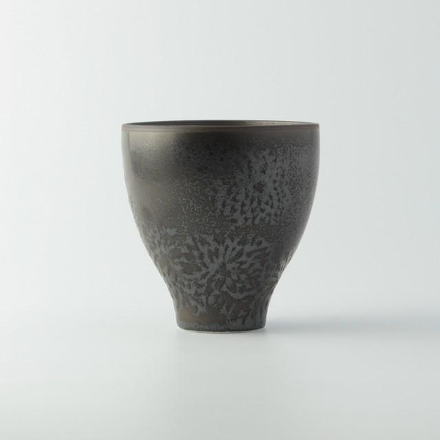 華カップ 鉄釉