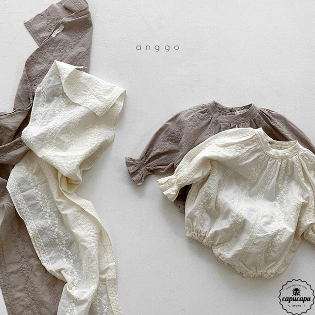 «sold out»«bebe» embroidery baby suits 2colors 刺繍ベビースーツ