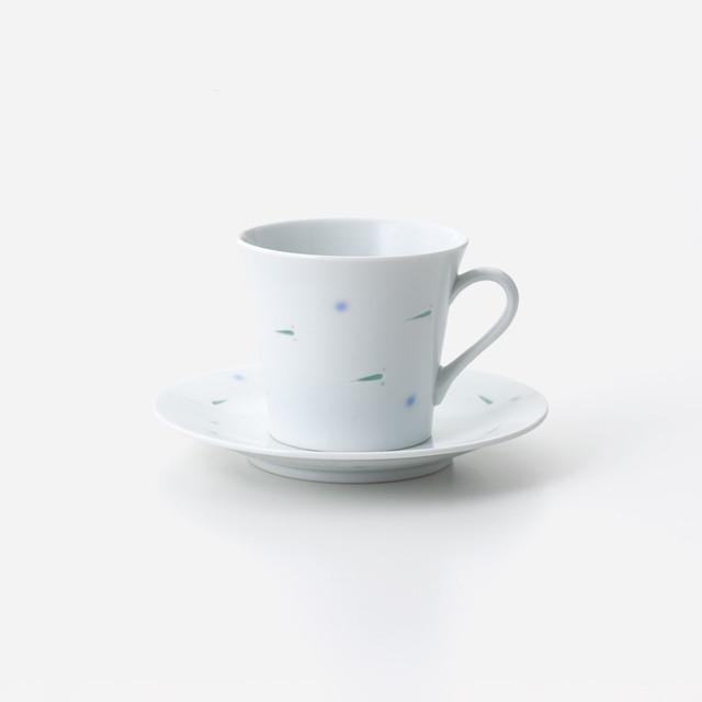 透かしメダカ 珈琲碗皿
