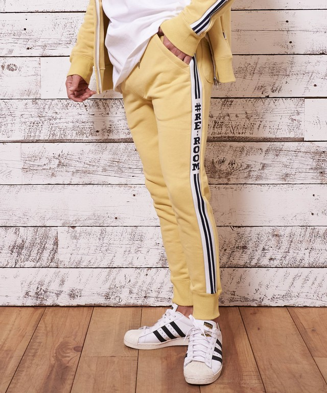 SIDE LINE RIB SWEAT SLIM PANTS[REP040]