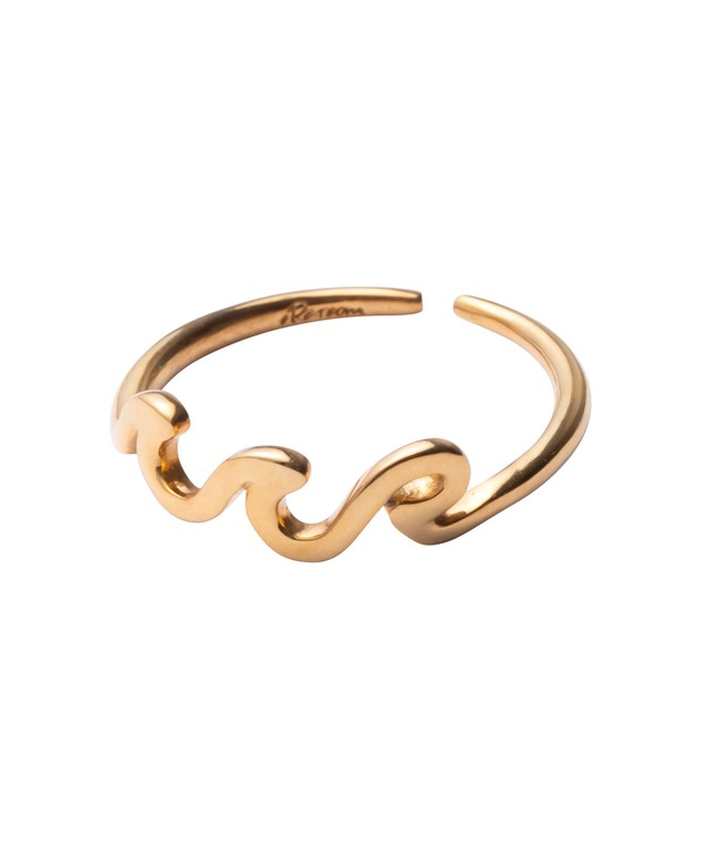 WAVE ICON RING GOLD[REA136]