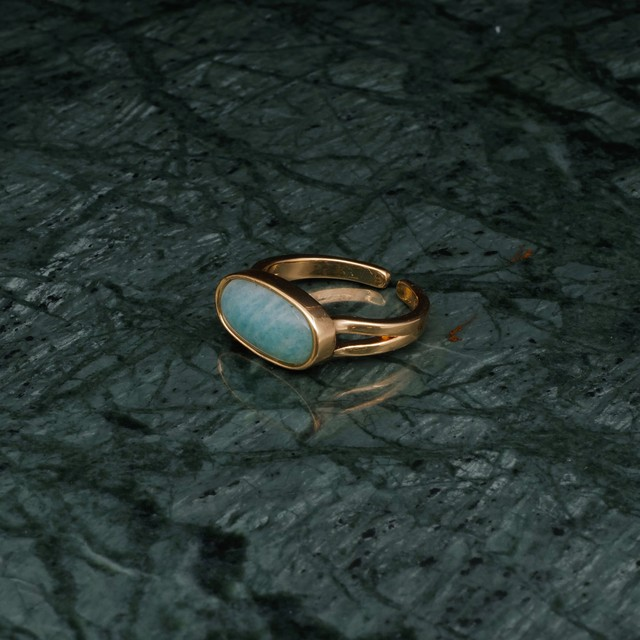 OVAL STONE RING GOLD 002