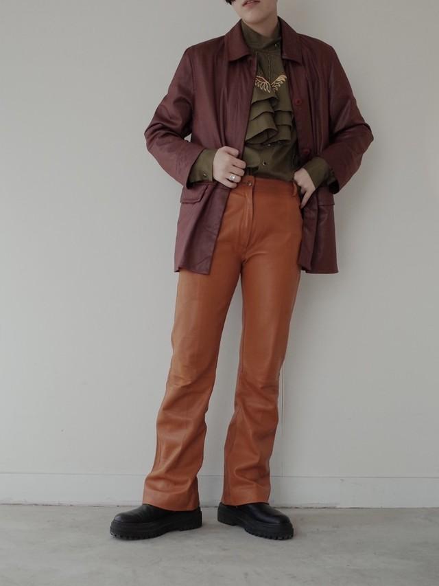 used Christian Dior lamb leather pants