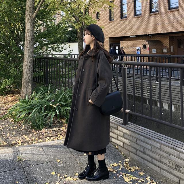 ベーシック 長袖 ロング丈 ジャケット コート【17262】