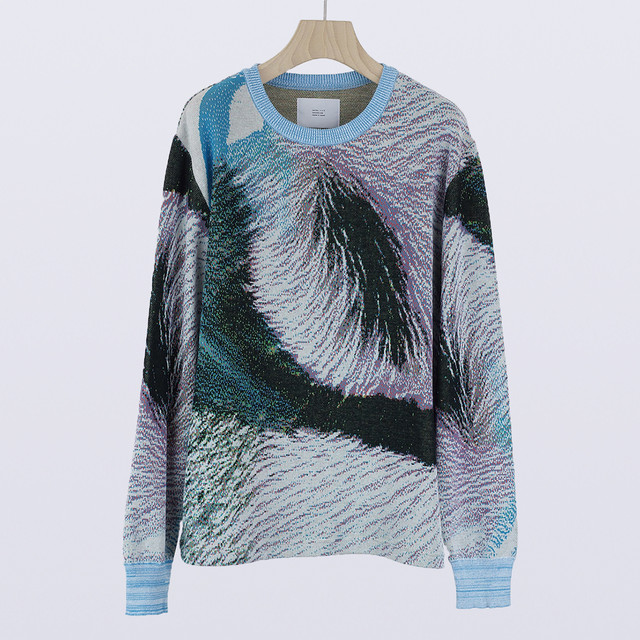 【SALE】HATRA  Syn Feather Sweater halcyon