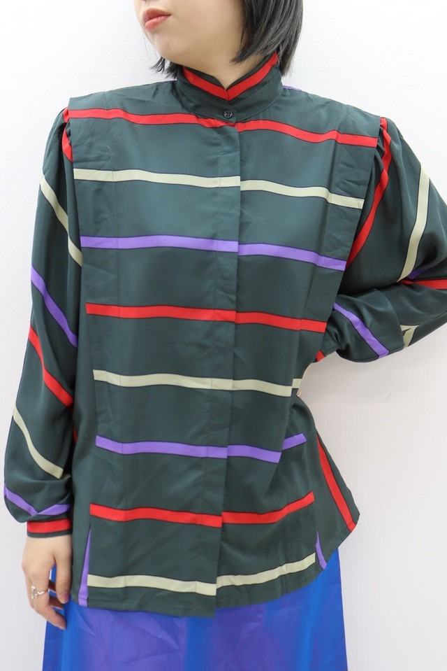 stripe design blouse/ BL11160002