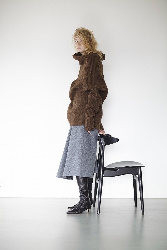 Solid tweed skirt