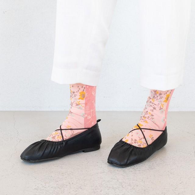 【COQ textile】ある日・ソックス(ピンク)