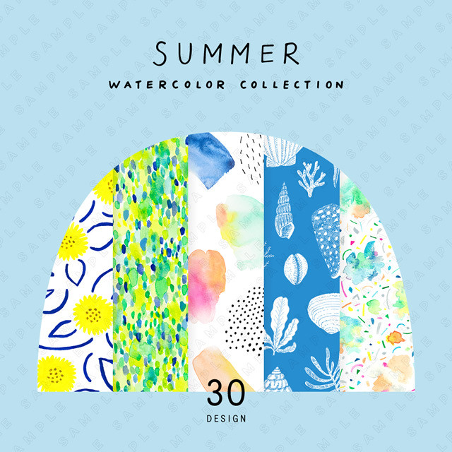 夏の水彩素材集 Summer Watercolor Collection