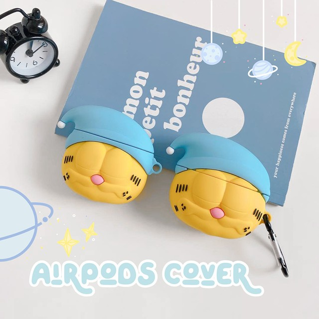 Cute sleep cat airpods case