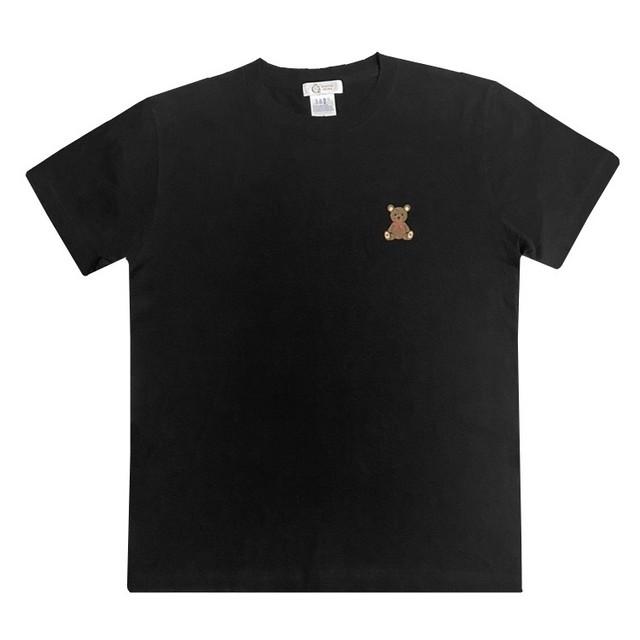 ストラ特注!!【QUATRE PRINQ】テディベアTシャツ<ブラック>(税・送料込)