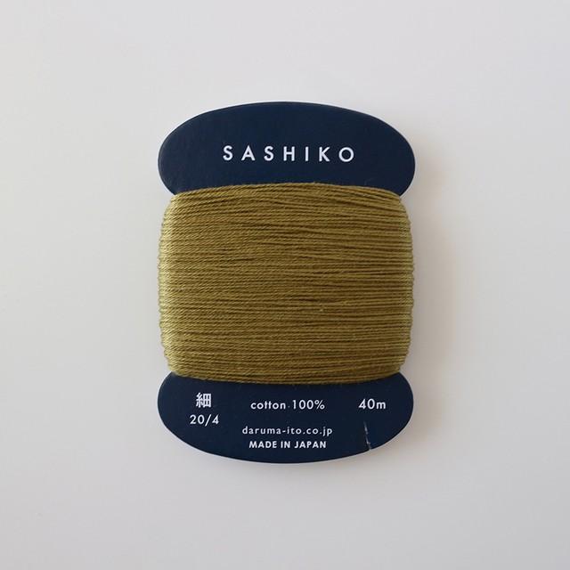 ダルマ刺し子糸(細)単色 228.うぐいす
