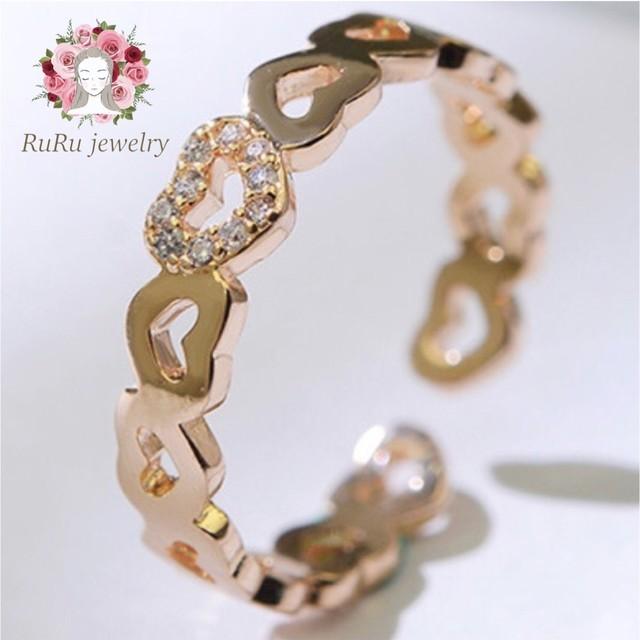 Around heart free size(ring)