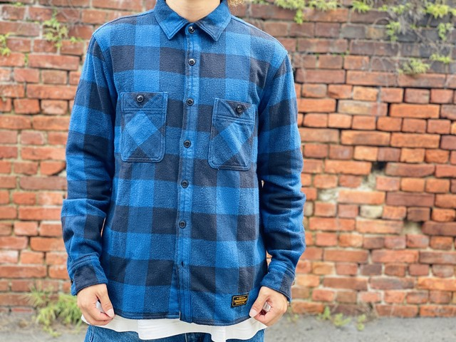 NEIGHBORHOOD LUMBERS / C-SHIRT. LS BLUE MEDIUM 50JF6999