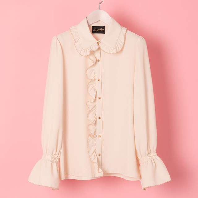 TRIM FRILL BLOUSE (VN1711010)
