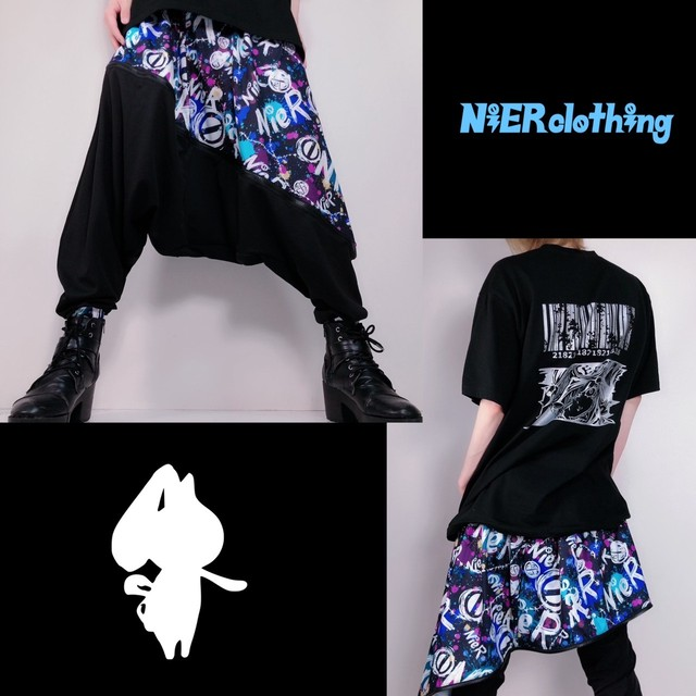 2WAY SARROUEL PANTS【切替ASYMMETRY】NieR PAINT