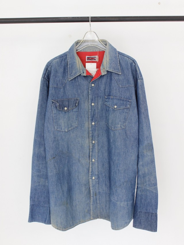 Used 80's BIG MAC quilting denim shirt