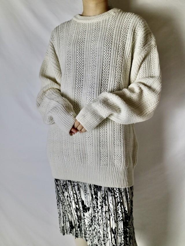 white cotton knit 【0736】