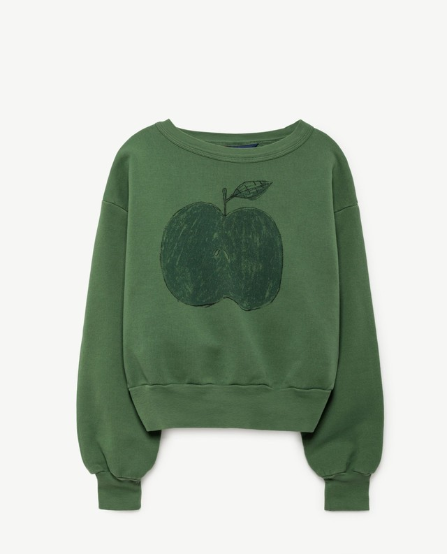 THE ANIMALS OBSERVATORY / BEAR KIDS SWEATSHIRT[Green Apple]
