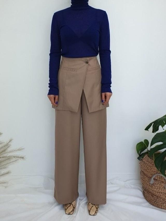 ダブルパンツ パンツ 韓国ファッション
