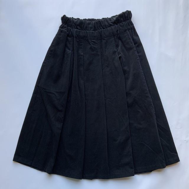【フリンジタックスカート】ブラック/original textile