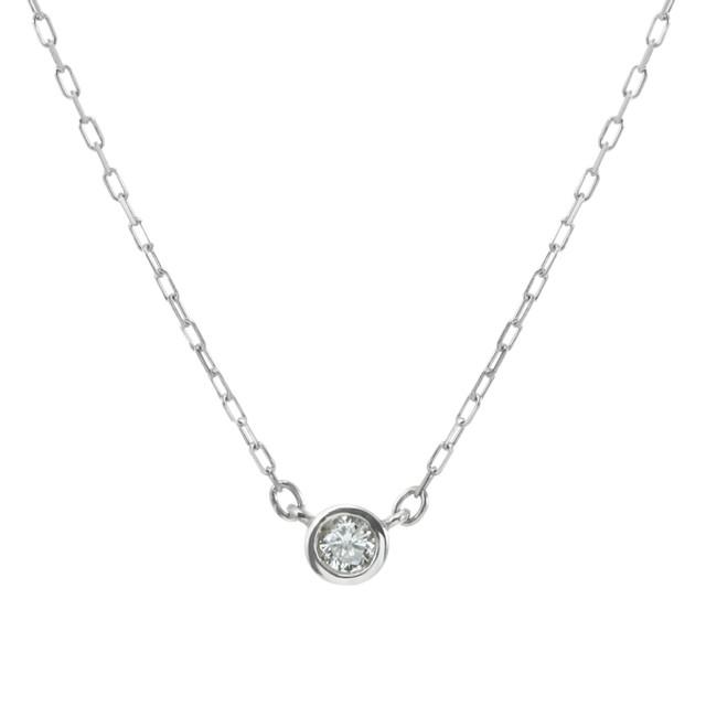 K10WGダイヤモンドネックレス 020201009206