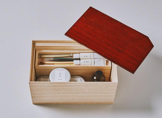 「巡-金継ぎ時代-」金継ぎキットとお道具箱のセット(溜塗) / Kintsugi  kit and box (Red brown urushi coating)