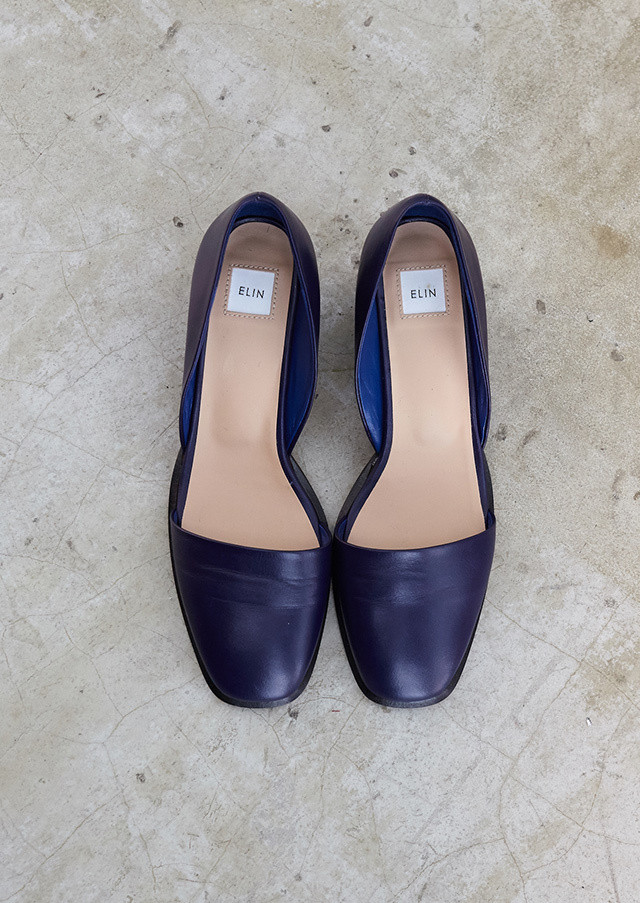 Square toe separate pumps