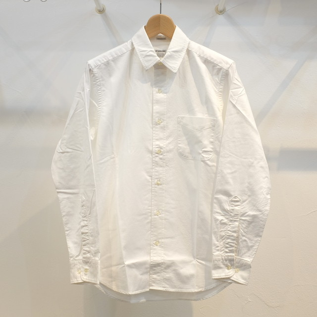 Workers(ワーカーズ) スーピマオックス レギュラーカラーシャツ ホワイト