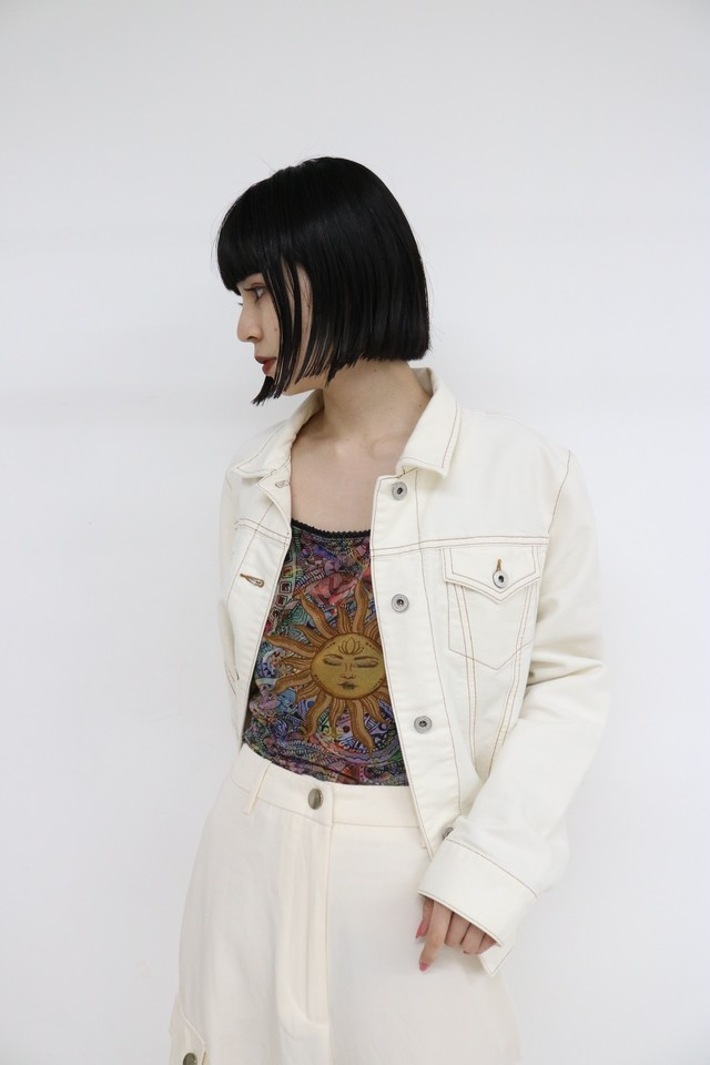 white denim jacket / 4SSOU26-13