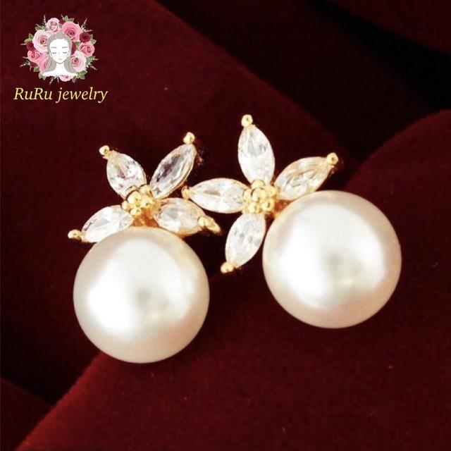 Flower pearl(pierce)