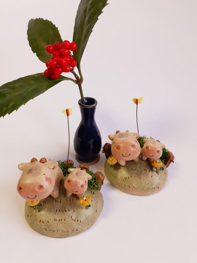 牧場・牛セット(オーブン粘土)