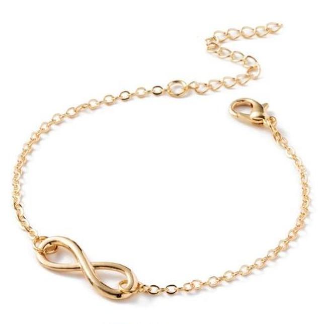 Iparam ファッション ブレスレット ビジュー 女性 8 ∞ 無限大 男性 ジュエリー ガール ギフト チャーム バングル SKU-IPA-1367-gold