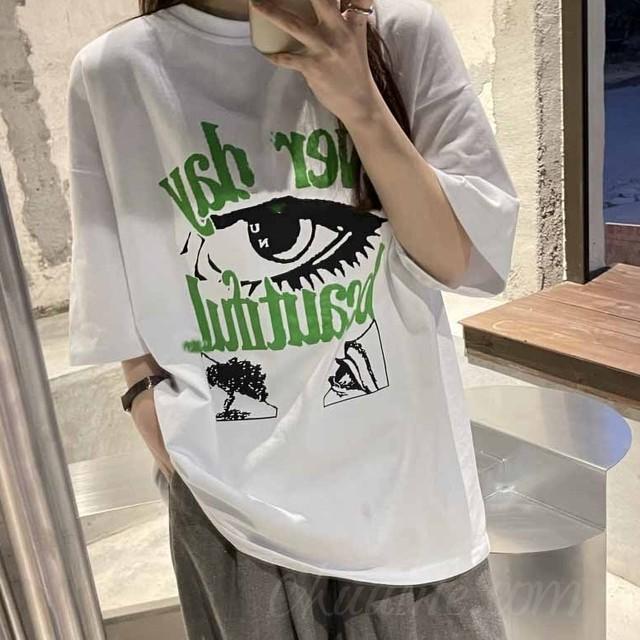 【トップス】韓国系半袖ラウンドネックプルオーバーTシャツ47720655