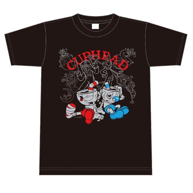 CUPHEAD ( カップヘッド ) Tシャツ 黒 サイズS~XL / エンスカイ