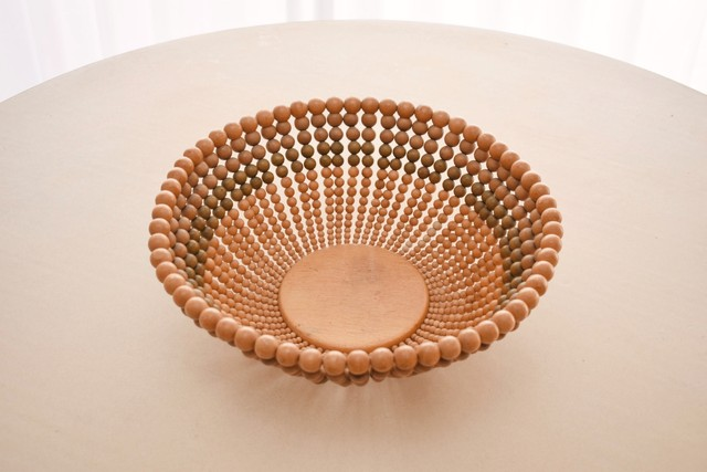 Finnish wooden pearl bowl