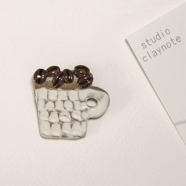 studio craynote ブローチ コーヒーマグ(白) 【陶器】