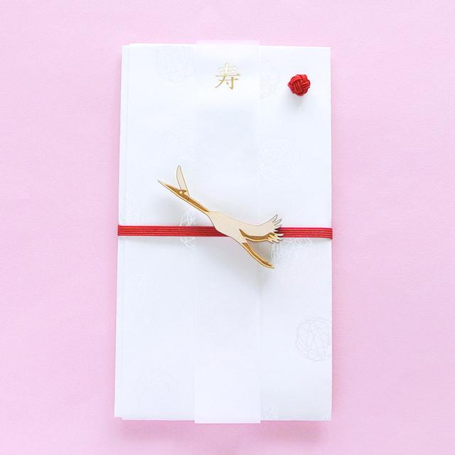 《鳥/ツル》ご祝儀袋 寿 鶴 koyoriya ZOO アニマル 金封 のし袋 封筒