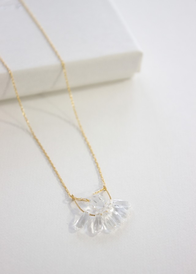Waning Moon Crystal Drop Necklace No.98930066