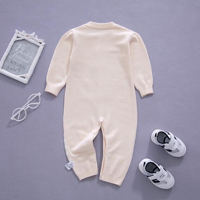【オールインワン】カートゥーンニット シンプル肌触り良いベビー服ロンパース25765081