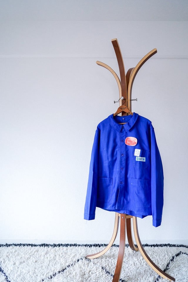 """【Deadstock, 1960s】""""Adolphe Lafont"""" Cotton Twill Work JKT / v477"""