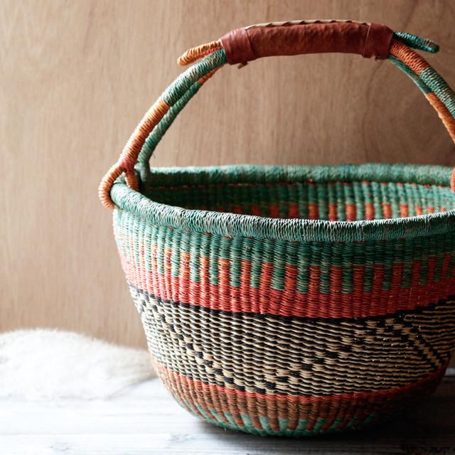 ガーナの手編み ボルガバスケット / 大 9