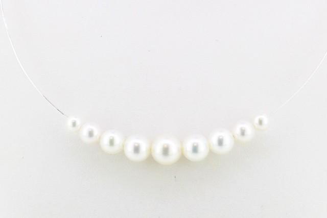 アコヤ真珠デザインネックレス〈オメガネックレス/スルータイプ〉