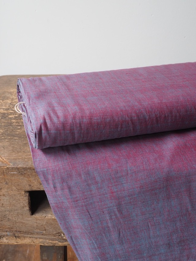 bengal fabric b21 red/saxe chambray