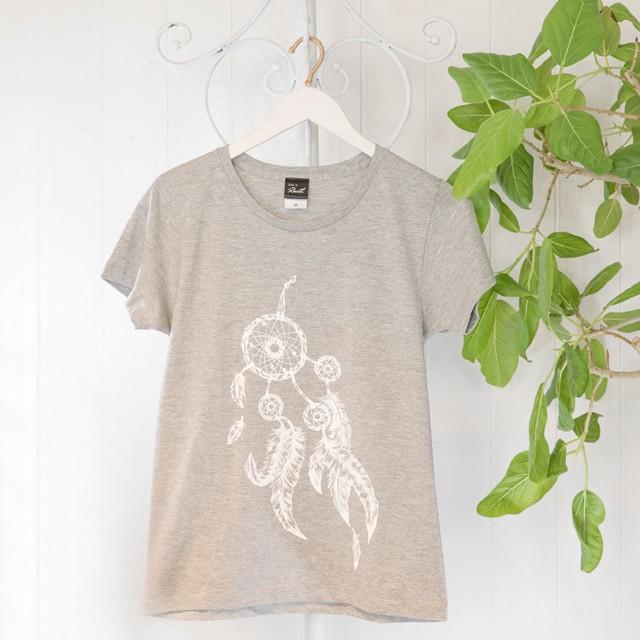 高次元波動Tシャツ ドリームキャッチャー グレー