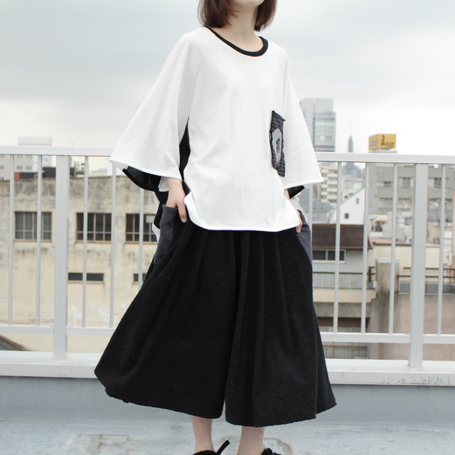 Raglan-T-shirts (white/black)